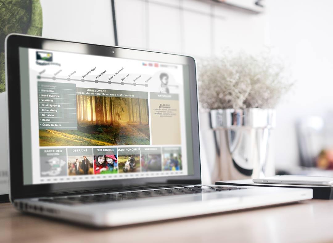 Grasel Wege Informationsmaterial. Webseite.