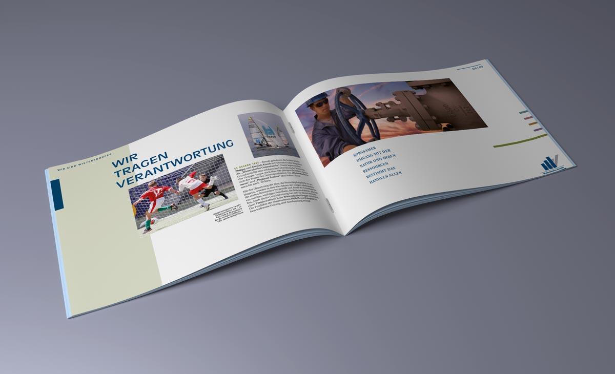 Image-Broschüre für die WIG Wietersdorfer Holding GmbH. Doppelseite 2
