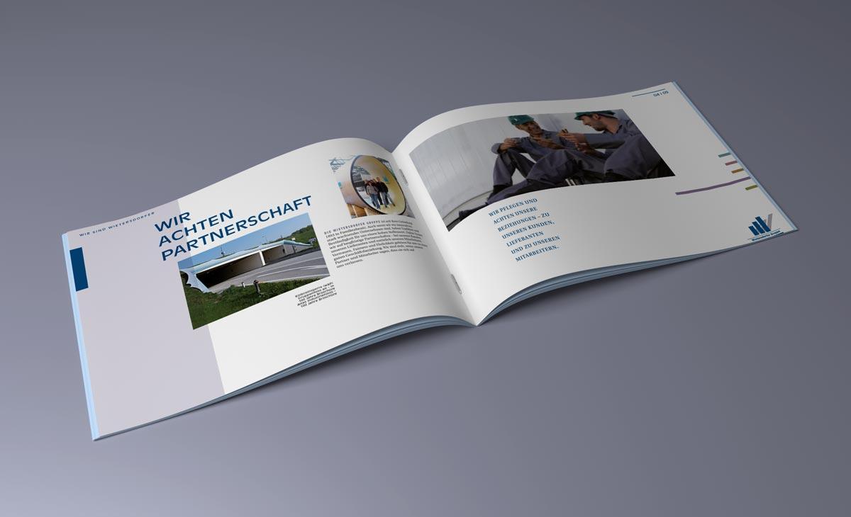 Image-Broschüre für die WIG Wietersdorfer Holding GmbH. Doppelseite 3