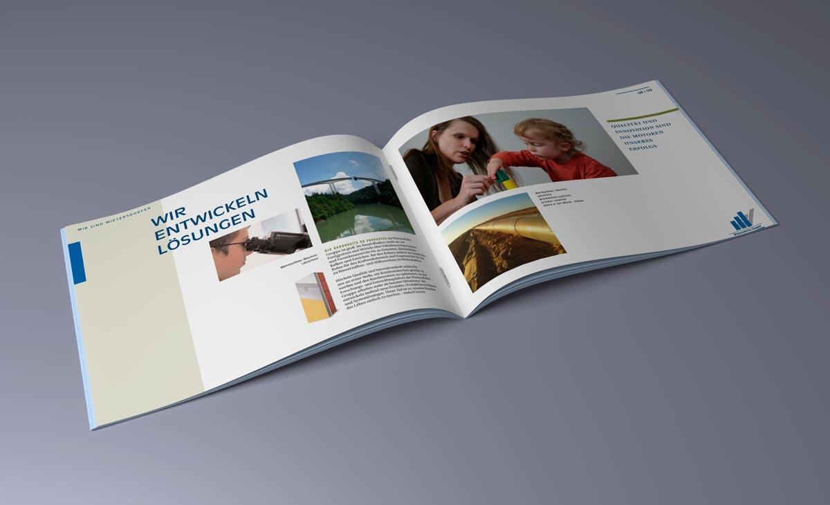 Image-Broschüre für die WIG Wietersdorfer Holding GmbH. Doppelseite 4