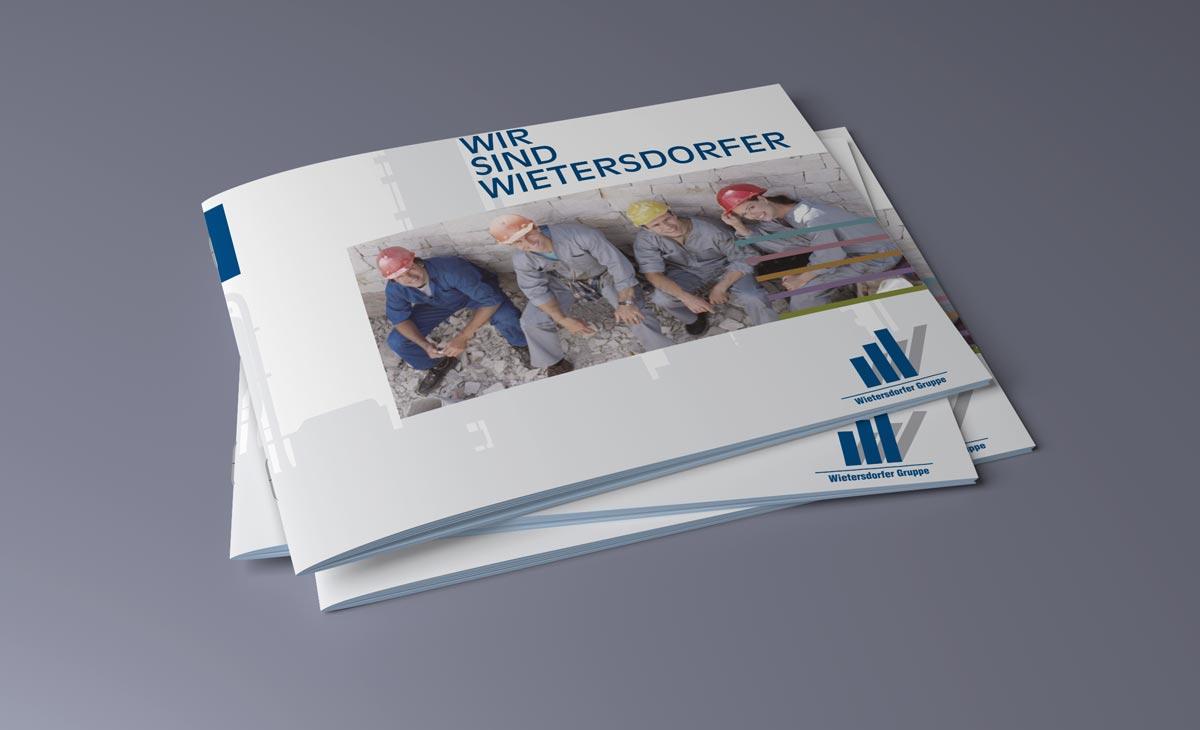 Image-Broschüre für die WIG Wietersdorfer Holding GmbH. Cover