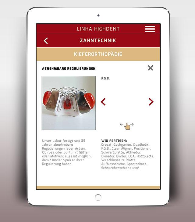Linha Highdent App Zahntechnik Kieferorthopädie