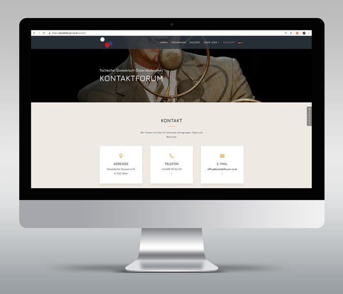 Kontaktforum Buchung iMac