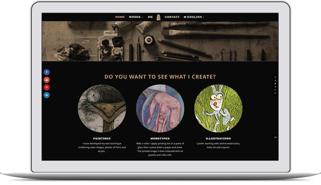 Alena Schulz Webseite auf iMac