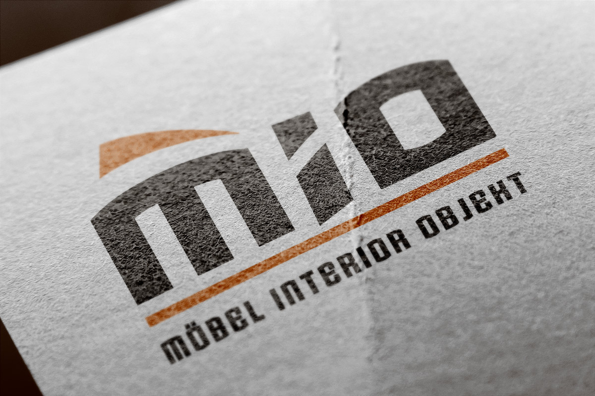 Logo und Geschäftsausstattung der Firma Möbel Interieur Object