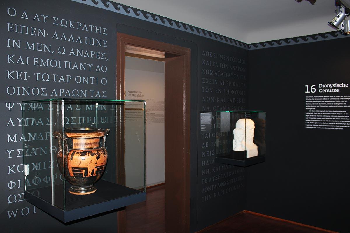 """Niederösterreichische Niederösterreichische Landesausstellung """"Brot & Wein"""", Poysdorf, antikes Griechenland"""