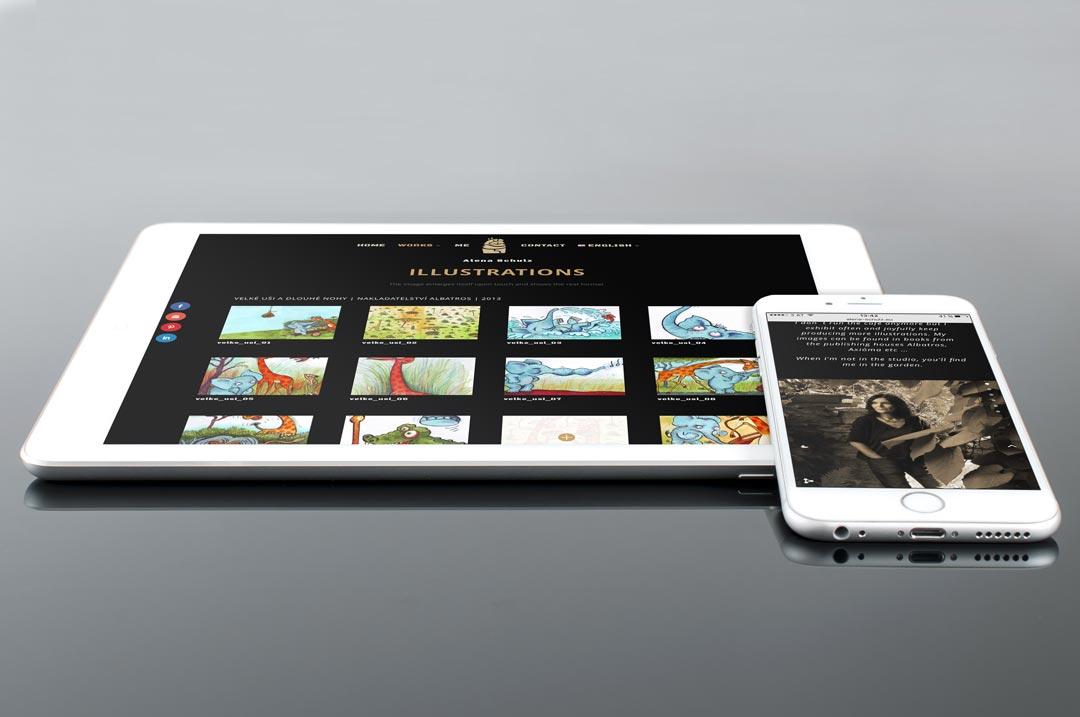 Präsentation von Alena Schulz auf einem iPad