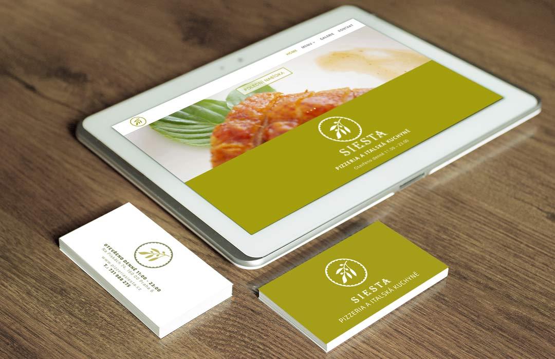 iPad und Visitenkarten