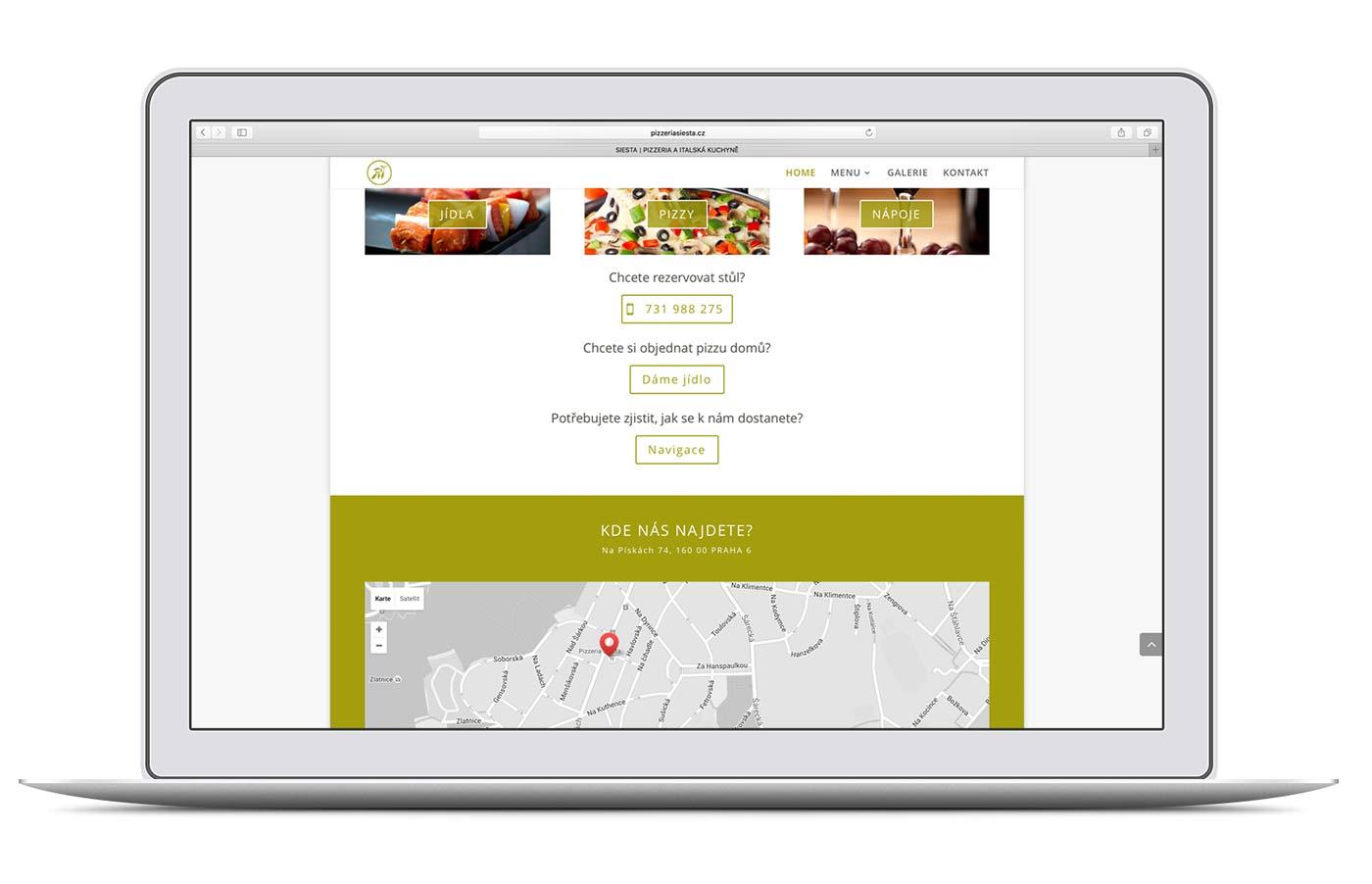 Restaurant Siesta Kontakt auf iBook