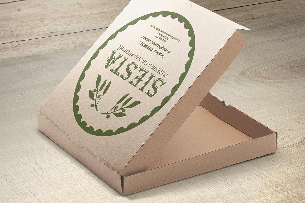 Restaurant Siesta Pizza-Schachtel