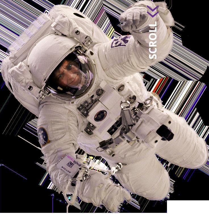 Petr Svestka, Grafiker, Webdesigner und Gründer von Grafikraum als Astronaut dargestellt.
