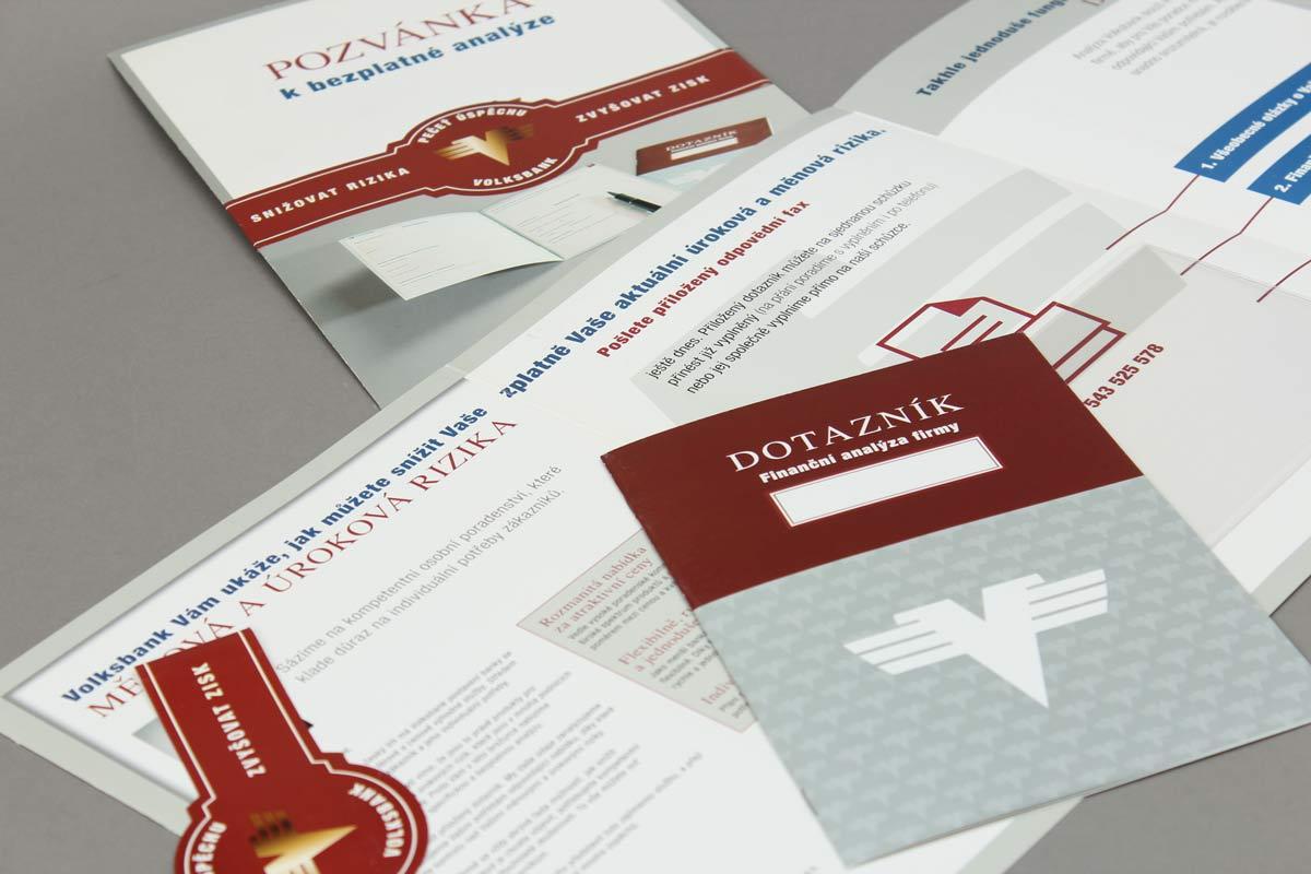 Eine Einladung der Volksbank Tschechische Republik zu Finanzanalyse an ausgewählte Unternehmer.